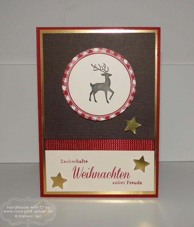 Stampin up Landshut - Weihnachten rustikal mit Hirsch 1