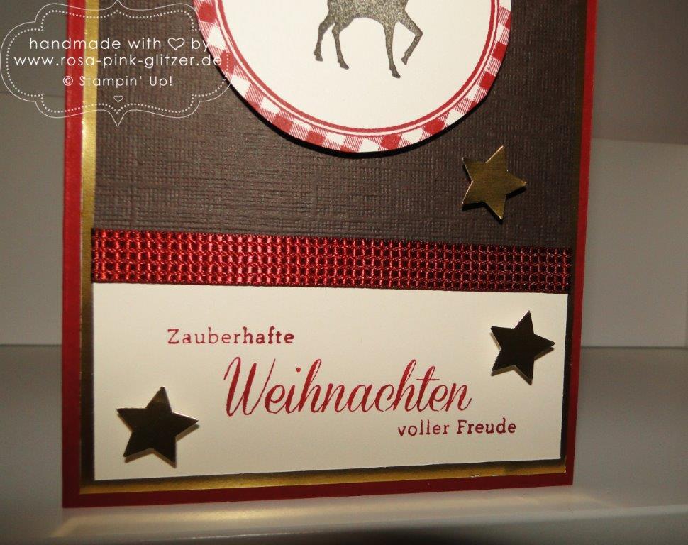 Stampin up Landshut - Weihnachten rustikal mit Hirsch 2