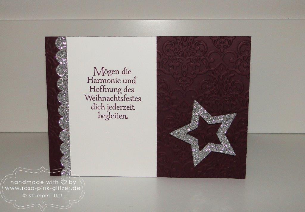 Stampin up Landshut - Weihnachtskarte Brombeermousse Klassische Weihnacht