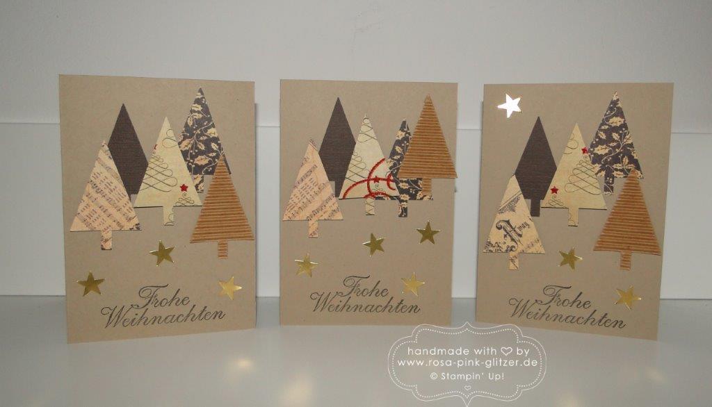 Stampin up Landshut - Weihnachtskarte Christbaumfestival rustikal