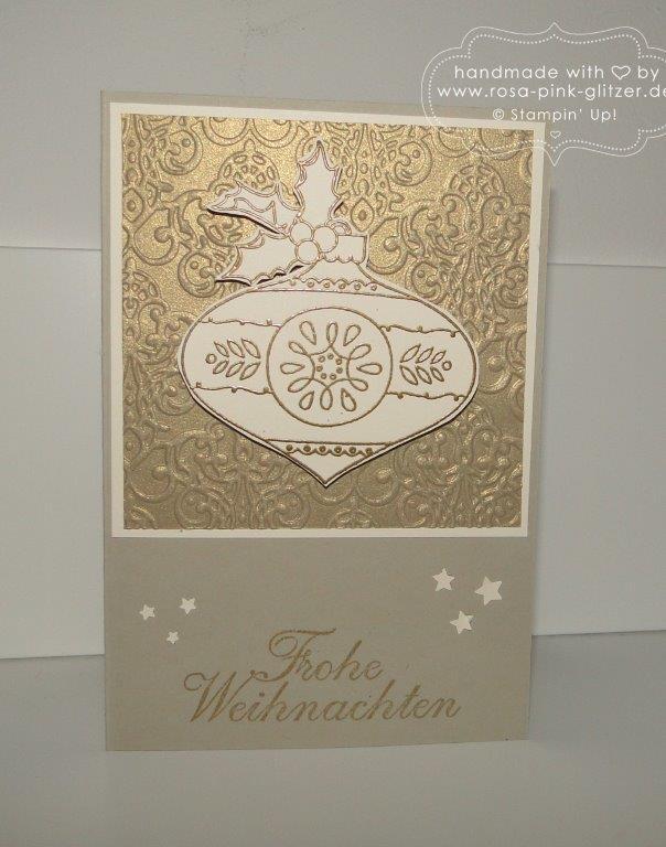 Stampin up Landshut - Weihnachtskarte Christmas Bauble