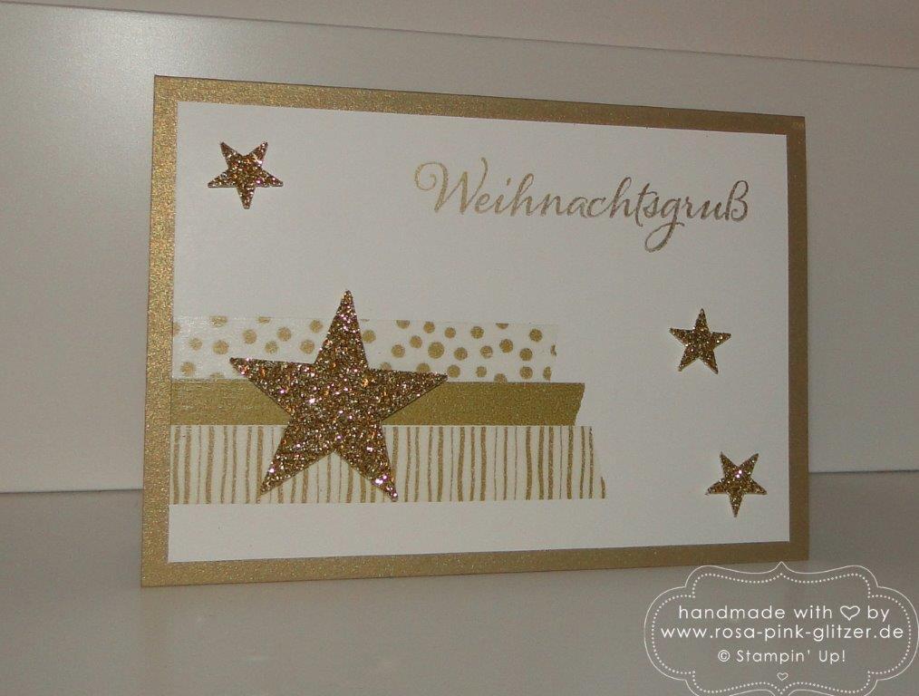 Stampin up Landshut - Weihnachtskarte gold mit Stern