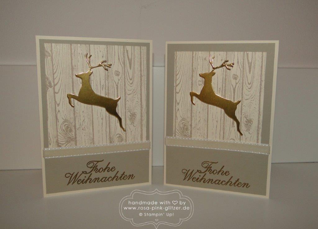 Stampin up Landshut - Weihnachtskarte Hardwood Hirsch