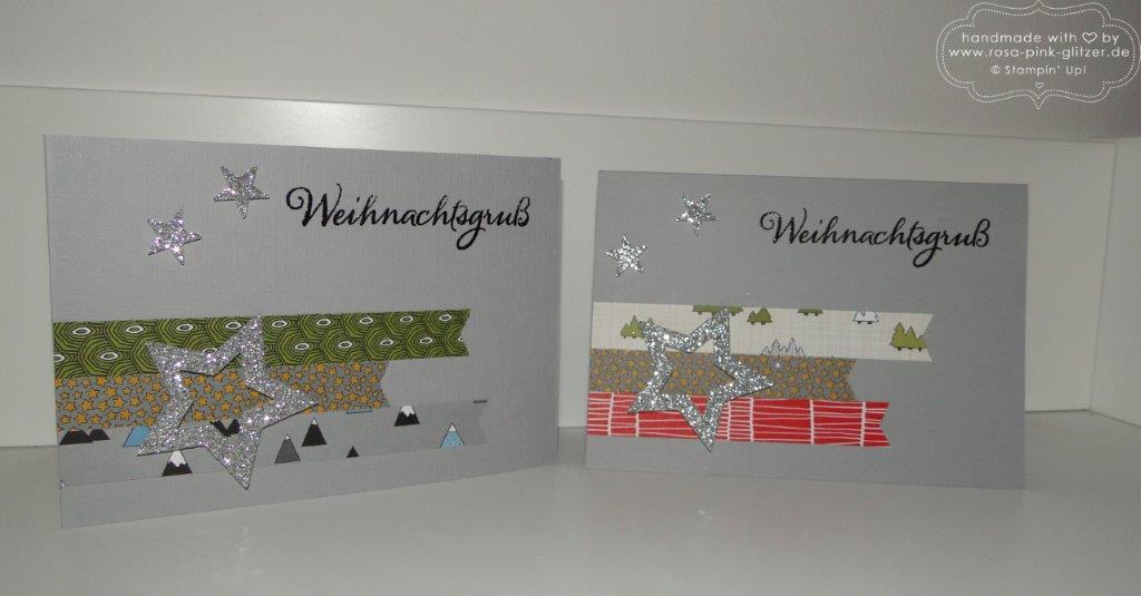 Stampin up Landshut - Weihnachtskarte modern 1