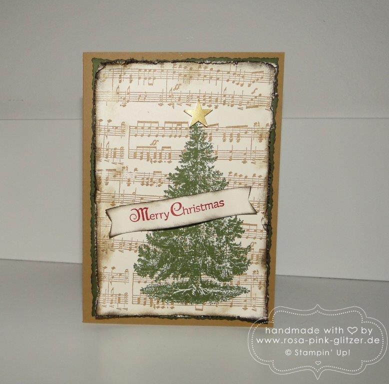 stampin up landshut - weihnachtskarte musik 1