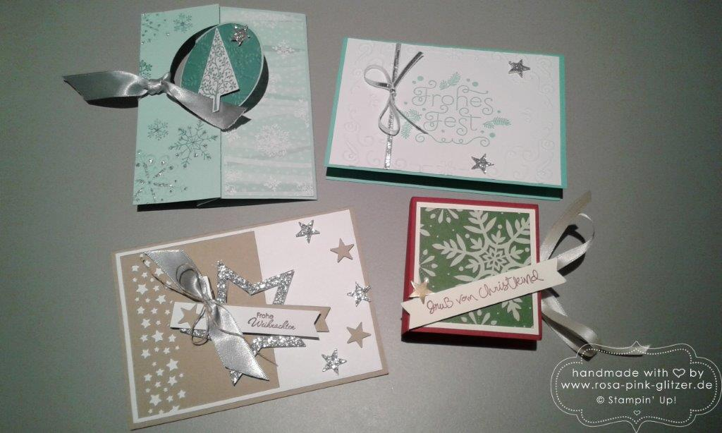 Stampin up Landshut Weihnachtsworkshop Fräulein Moni 0