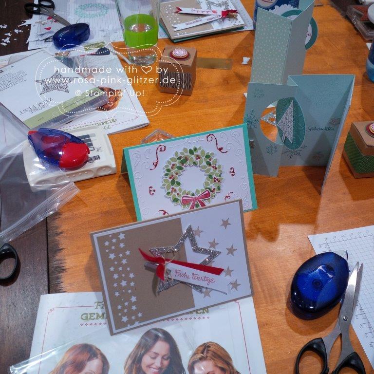 Stampin up Landshut - Weihnachtsworkshop Fräulein Moni 15
