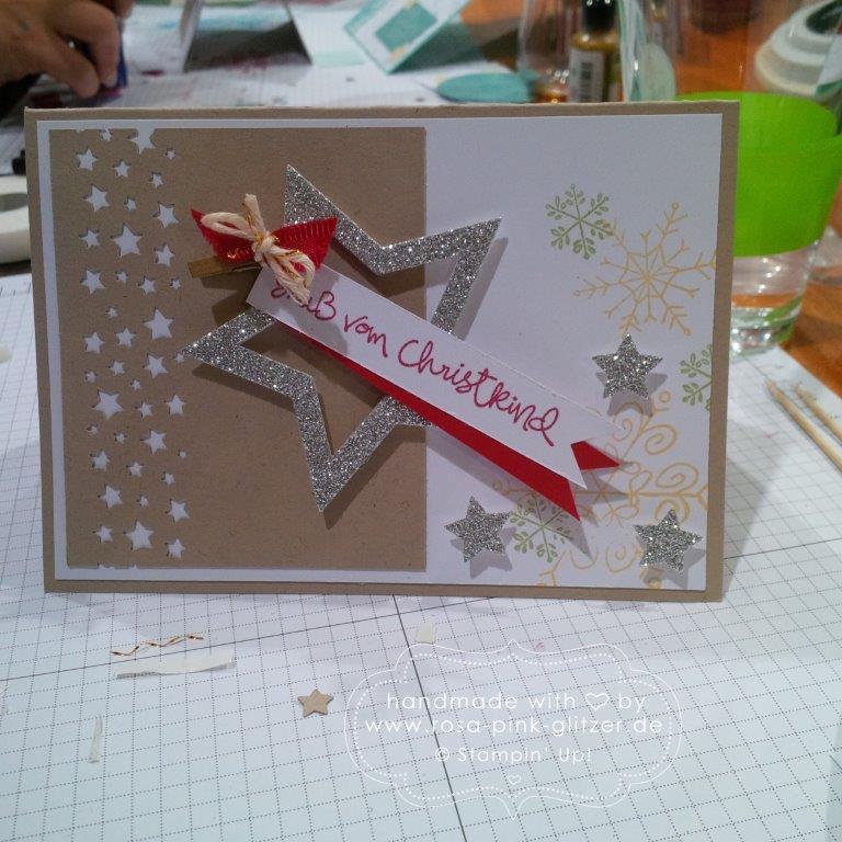 Stampin up Landshut - Weihnachtsworkshop Fräulein Moni 9