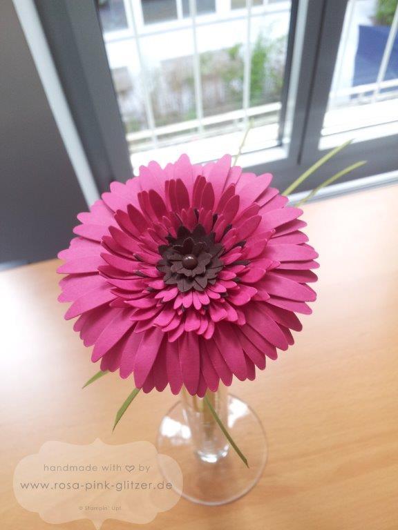 Stampin uo Landshut - Gerbera in pink zur Hochzeit 1