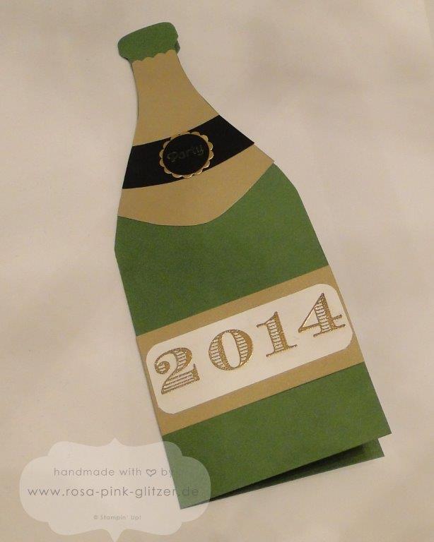 Stampin up Landshut - Flaschenkarte -Silvester Neujahr