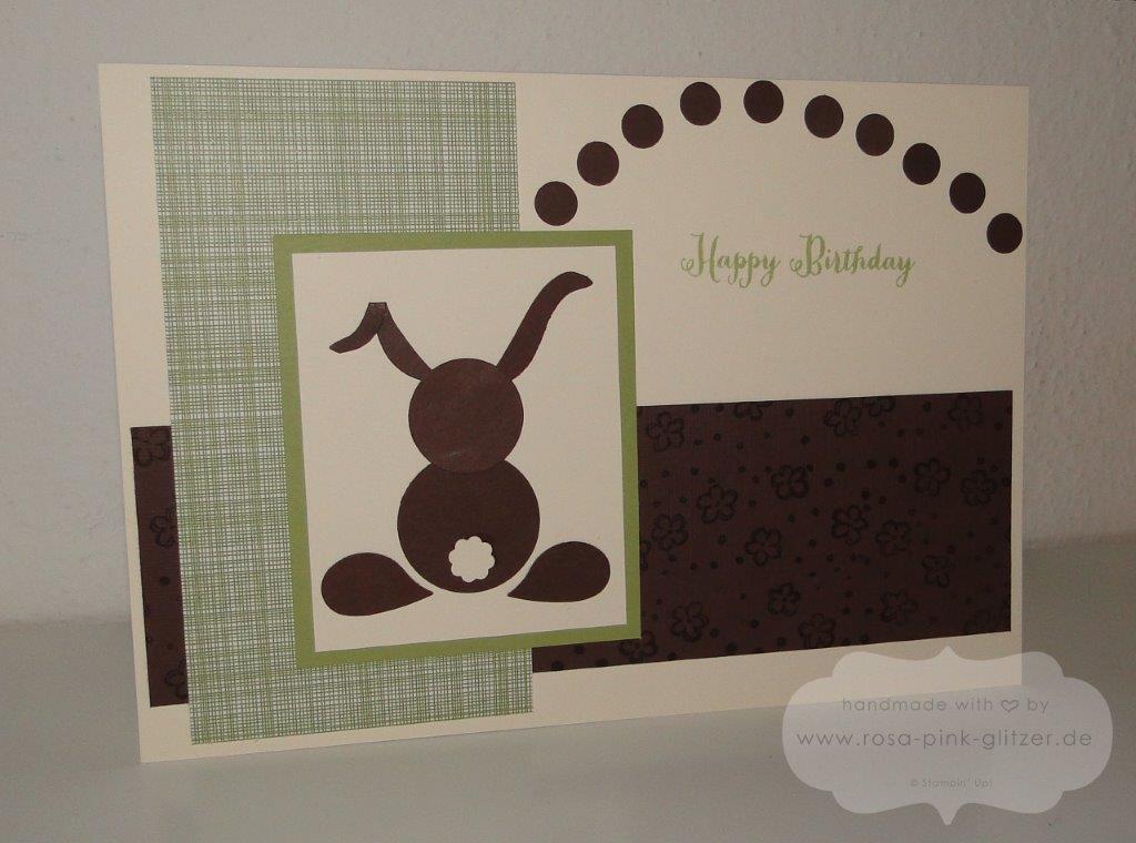 Stampin up Landshut - Geburtstagskarte für Tina-Hase