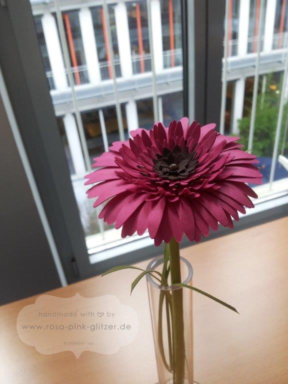 Stampin up Landshut - Gerbera in pink zur Hochzeit 2