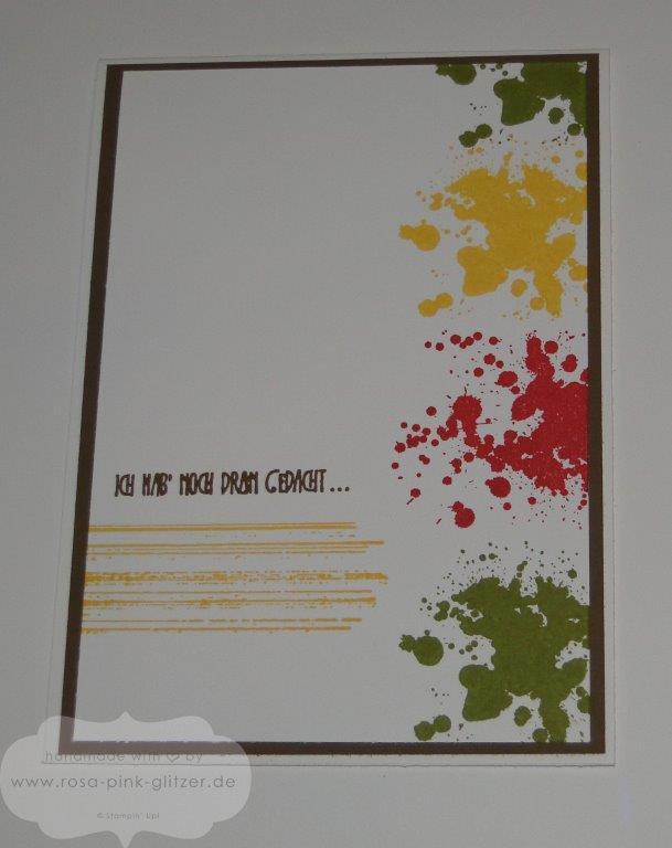 Stampin up Landshut - Gorgeous Grunge Kleckse Geburtstagskarte
