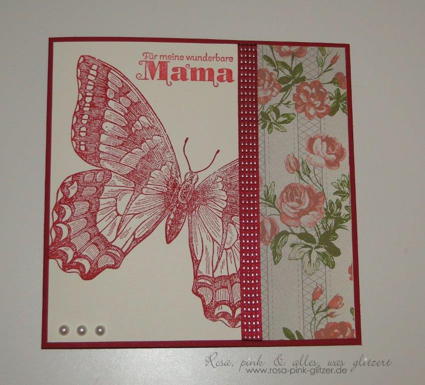 Stampin up Landshut - Karte Muttertag Swallowtail