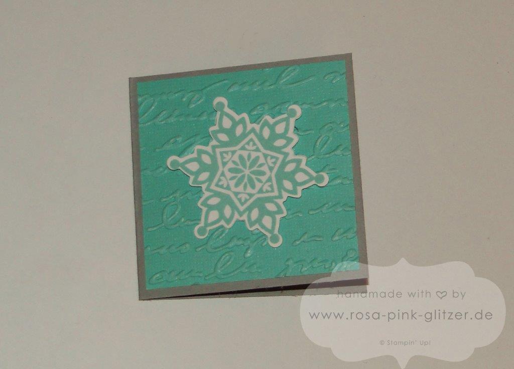 Stampin up Landshut - Minikarte Festive Flurry Weihnachten