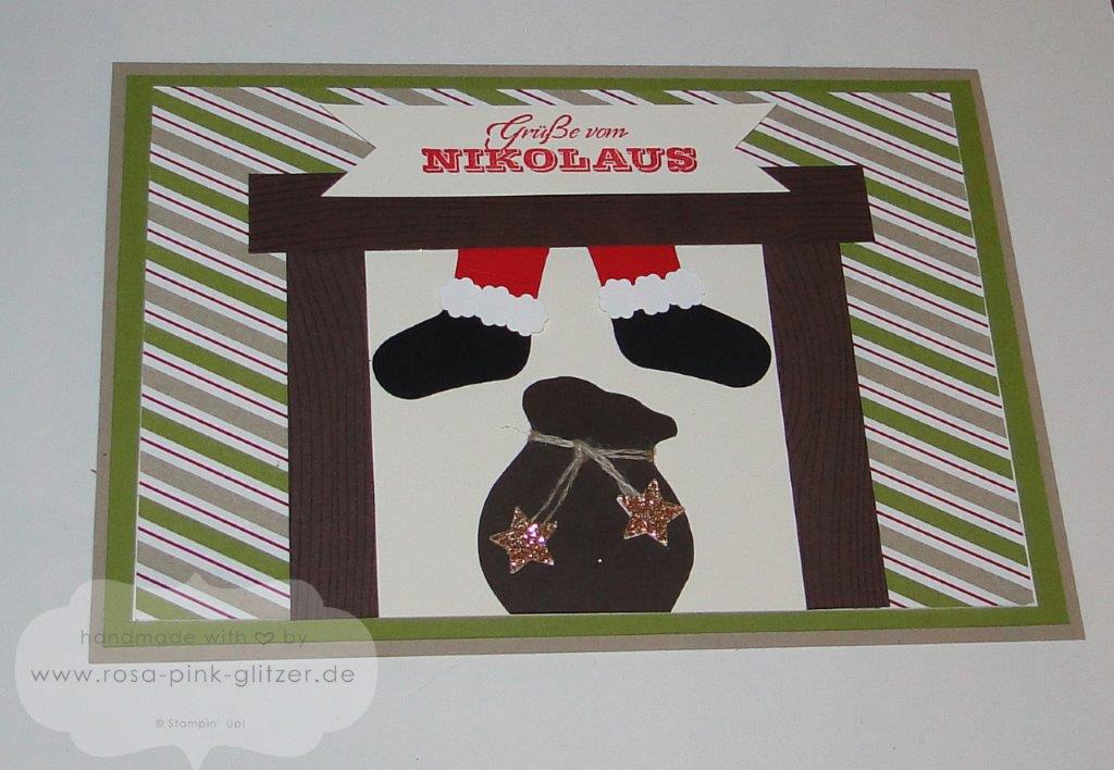 Stampin up Landshut - Nikolauskarte - imc - Santa Claus is coming to town