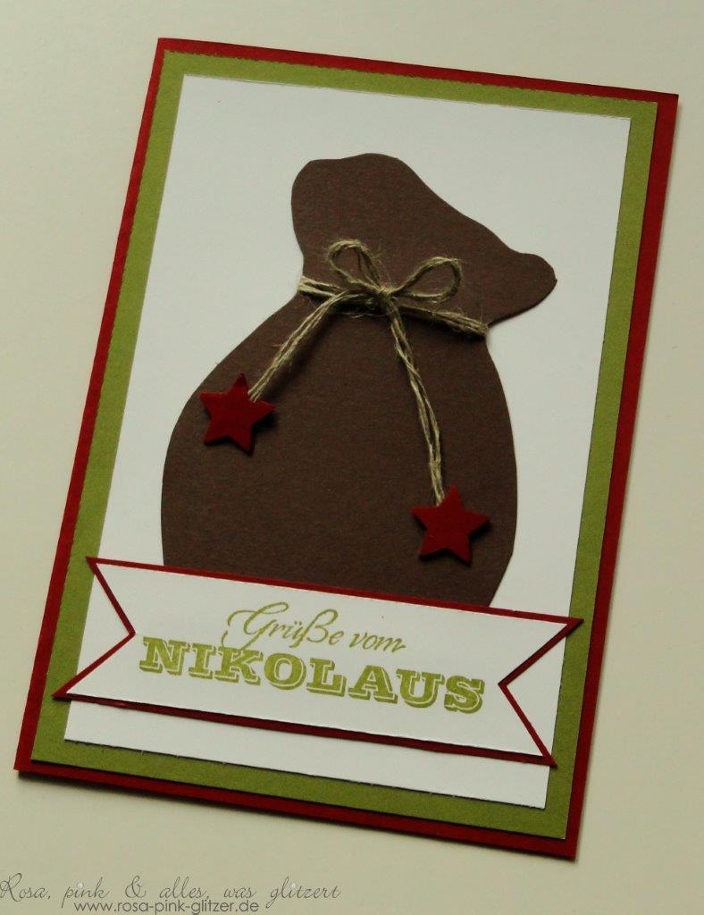 Stampin up Landshut - Nikolauskarte mit Nikolaussack