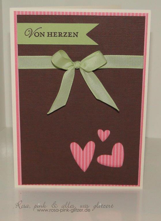 Stampin up Landshut - Nostalgische Etiketten - Herz an Herz