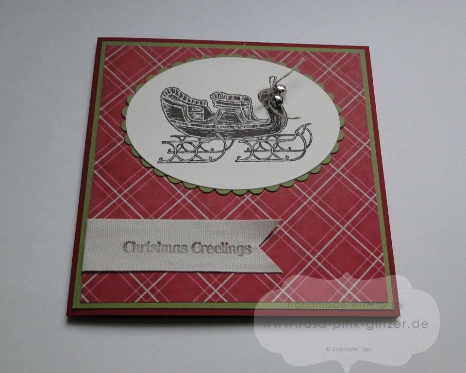 Stampin up Landshut - Open Sleigh Weihnachtskarte Jingle Bells