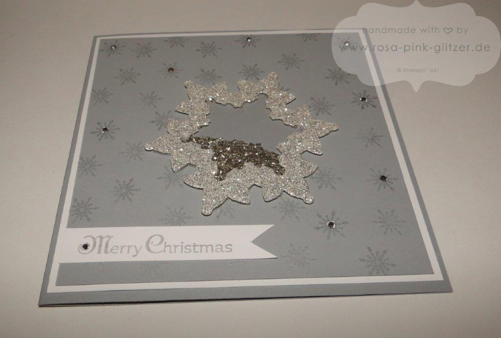Stampin up Landshut - Weihnachtskarte Festive Flurry Shaker Card Schüttelkarte 2
