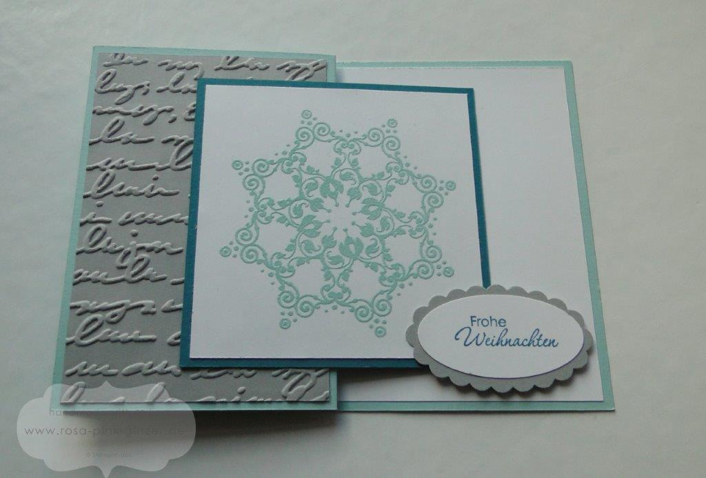 Stampin up Landshut - Winterzauber - Z-Karte Workshop-Projekt