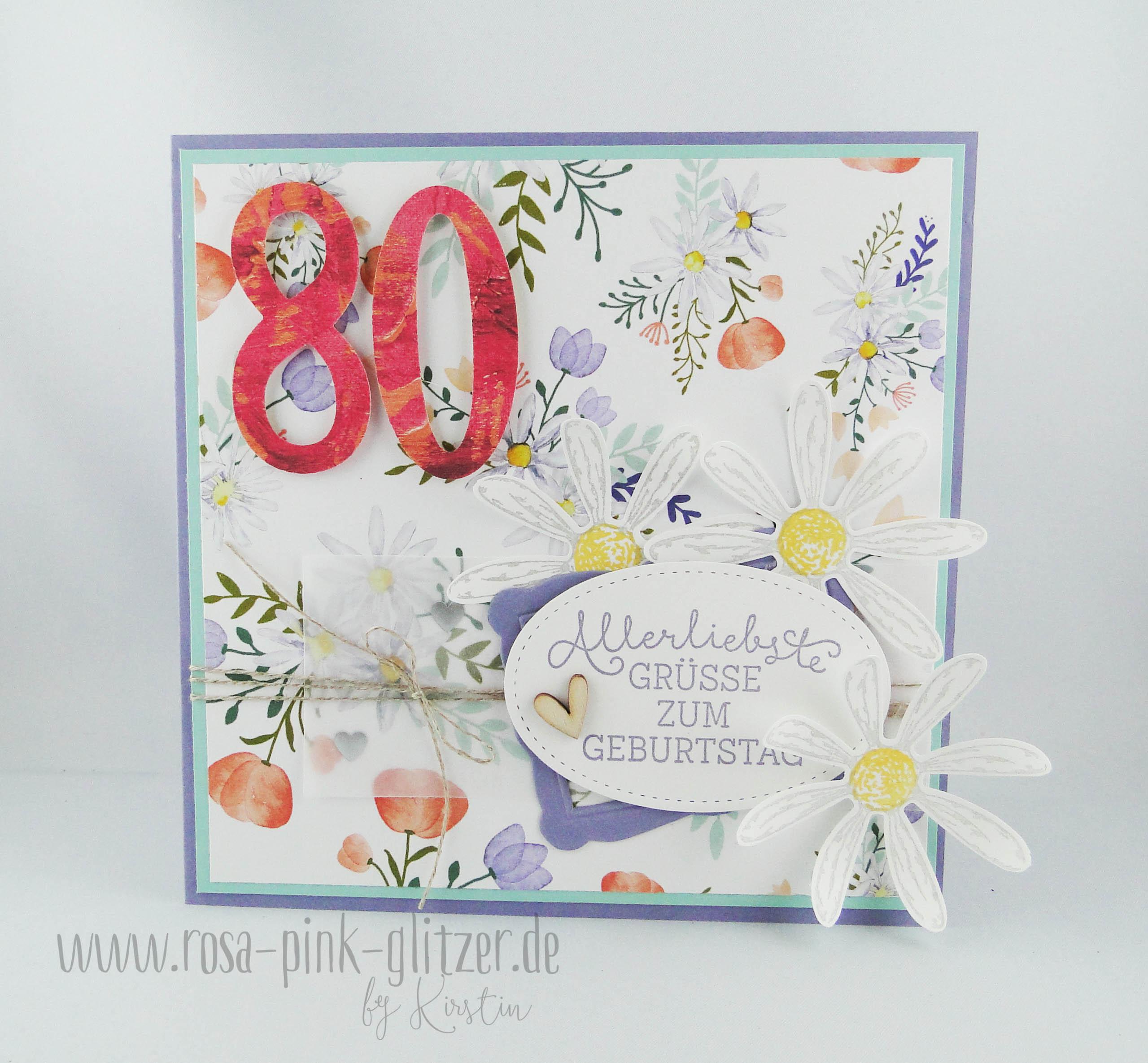 Geburtstagswunsche karte 80
