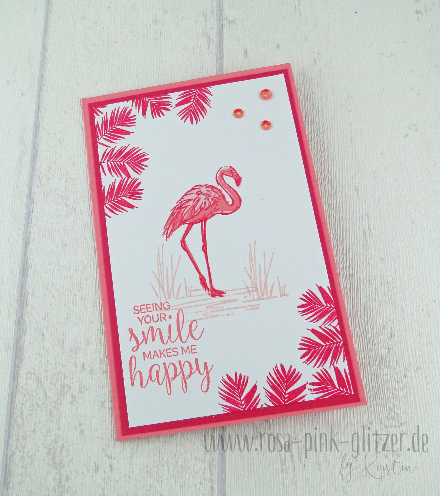 stampin up landshut flamingo pink 1
